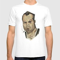 Die Hard - John McClane Mens Fitted Tee White SMALL