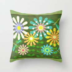 In The Garden Among The Flowers  Throw Pillow
