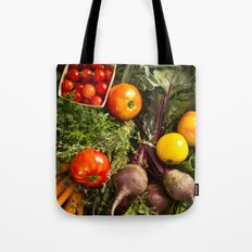 Mixed Organic Vegetables With Tomatoes Beets & Carrots Tote Bag