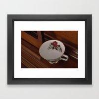 Rose Teacup Framed Art Print