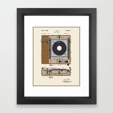Record Player Patent - C… Framed Art Print