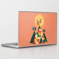 sunset Laptop & iPad Skins featuring Sunset Tipi by Picomodi