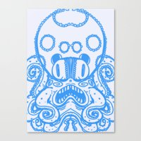 Fat Squid Canvas Print