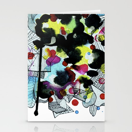 Hanging worlds  Stationery Card