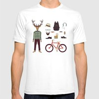 Deer Boy Mens Fitted Tee White SMALL