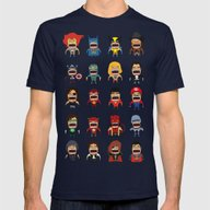 Screaming Heroes Mens Fitted Tee Navy SMALL