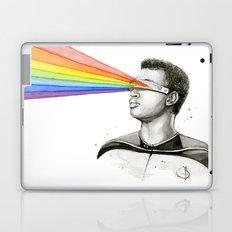 Geordi Rainbow Watercolor Portrait Laptop & iPad Skin