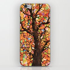 Stained Glass Tree #2 iPhone & iPod Skin