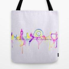 London skyline Shakespeare Tote Bag