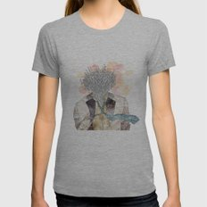 The one with head Womens Fitted Tee Athletic Grey SMALL