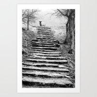 Dovedale Steps Art Print