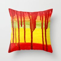 Bleed  Through Throw Pillow