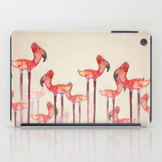 transmogrified flamingo colony iPad Case
