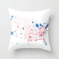 Election Mapping 2008 Throw Pillow