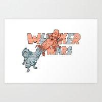 Whisker wars Art Print