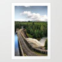 Laggan Dam Art Print