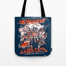 New Wave Laser Cats Tote Bag