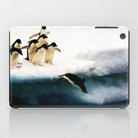 The Penguin Party - Painting Style iPad Case