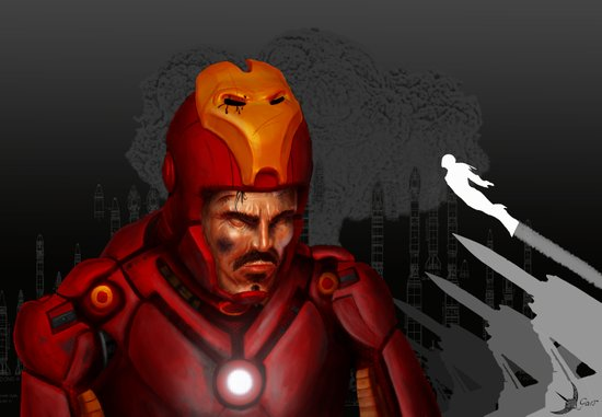 THE FACE COLLECTION - IRON MAN Art Print