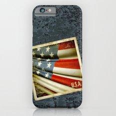Grunge sticker of United States flag Slim Case iPhone 6s