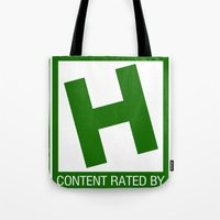 Rated H For Herbivore Tote Bag