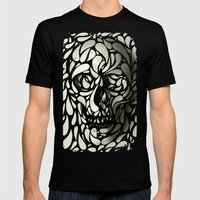 Skull Mens Fitted Tee Black SMALL