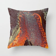 Active Volcano in Guatemala Throw Pillow