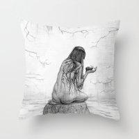 Nymph Throw Pillow