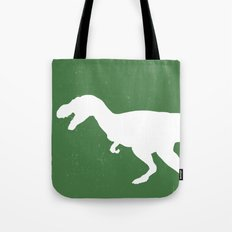 T- Rex Dinosaur Emerald Green  Tote Bag