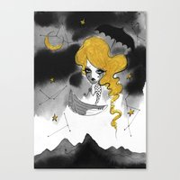 Late Summer Sky Canvas Print
