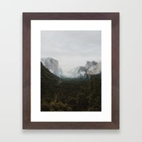Yosemite Fog Framed Art Print