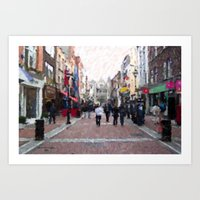 Grafton Street Art Print