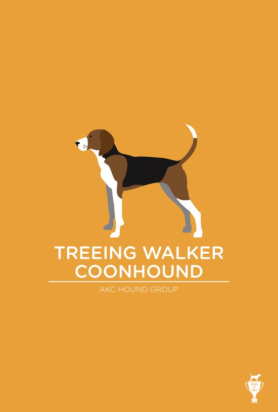 Treeing Walker Coonhound Art Print