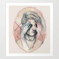 14/02 : Love is a blind Art Print