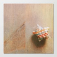 Plaid Lucky Star  Canvas Print