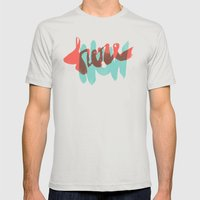 Here Now Mens Fitted Tee Silver SMALL