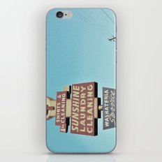 Sunshine Laundry Cleaning iPhone & iPod Skin