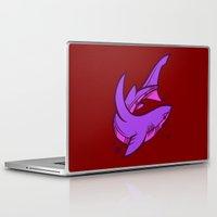 shark Laptop & iPad Skins featuring Shark by Artistic Dyslexia