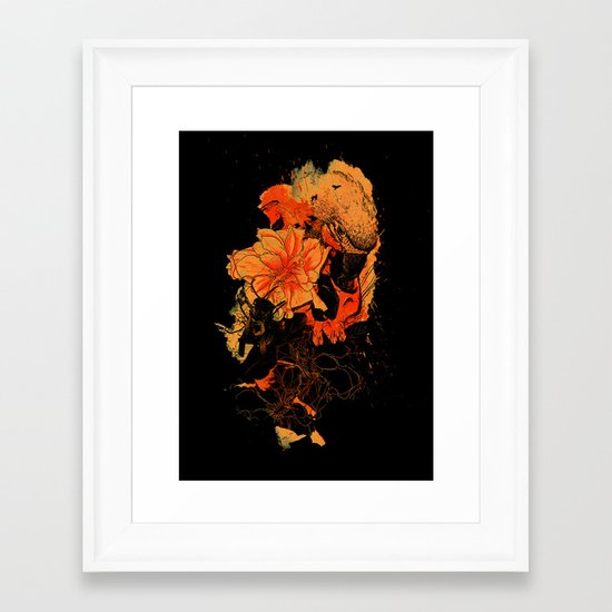 Pollination Dark Fire Framed Art Print