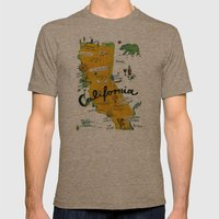 Postcard From California Mens Fitted Tee Tri-Coffee SMALL