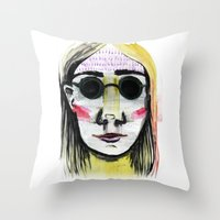 Head Shot #4 Throw Pillow