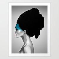 Cosmic Girl Art Print
