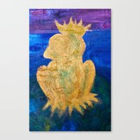 The Frog King Canvas Print