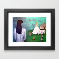 Real Life Is Not A Fairy… Framed Art Print