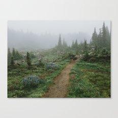 Washington Wildflower Fog Canvas Print