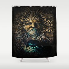 The Stone Sorcerer Shower Curtain