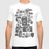 Cameras Mens Fitted Tee White SMALL
