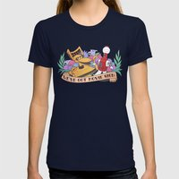 MST3K Womens Fitted Tee Navy SMALL