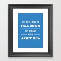 Get Up Framed Art Print
