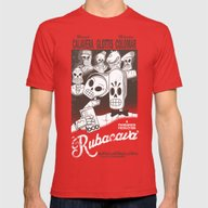 Rubacava Mens Fitted Tee Red SMALL